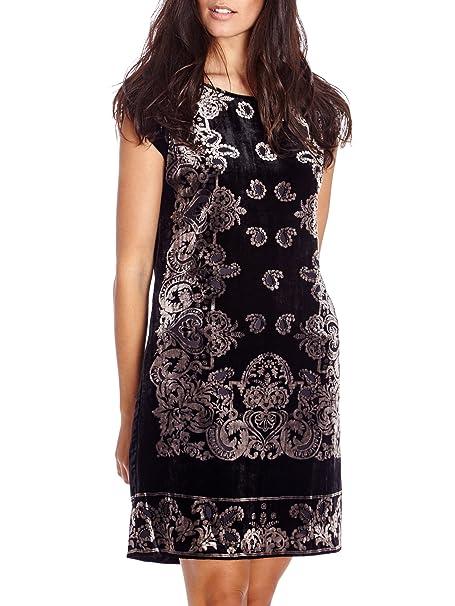 Cortefiel Vestido Terciopelo Negro L