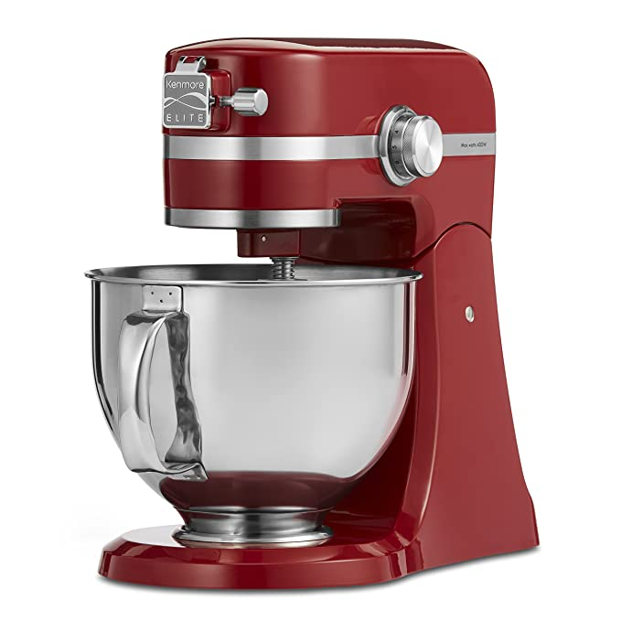 Amazon.com: Kenmore Elite 89208 5 Quart Stand Mixer in Red ...