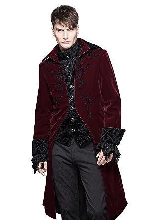 Amazon.com: HaoLin Gothic Coat Mens Renaissance Halloween Costumes ...