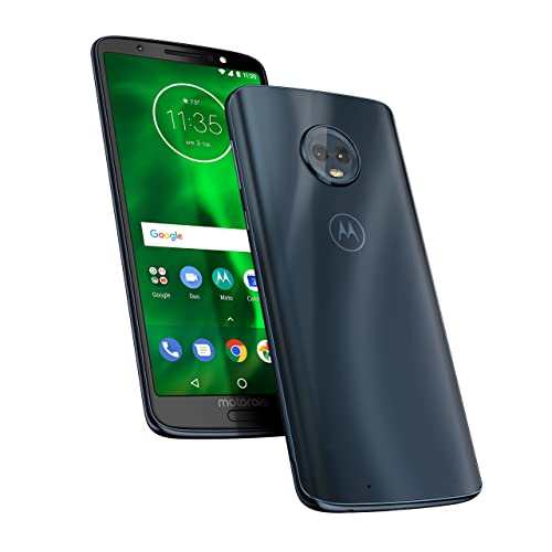 motorola moto g6 64GB  5.7-Inch Android 8.0 Oreo UK Sim-Free Smartphone with 4GB RAM and 64GB Storage (Dual Sim) - Deep Indigo (Exclusive to Amazon)