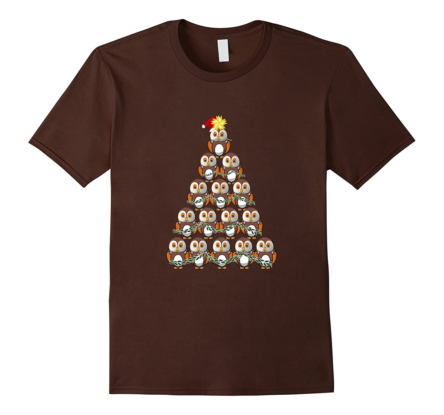 Christmas Owl Tree T-shirt with Owl in a Stocking North Star-ANZ ...