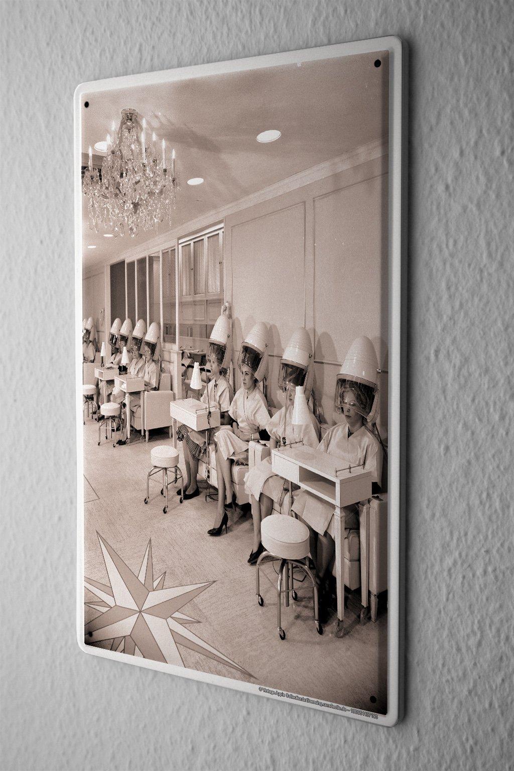 Tin Sign Office Workshop Hairdresser Vintage