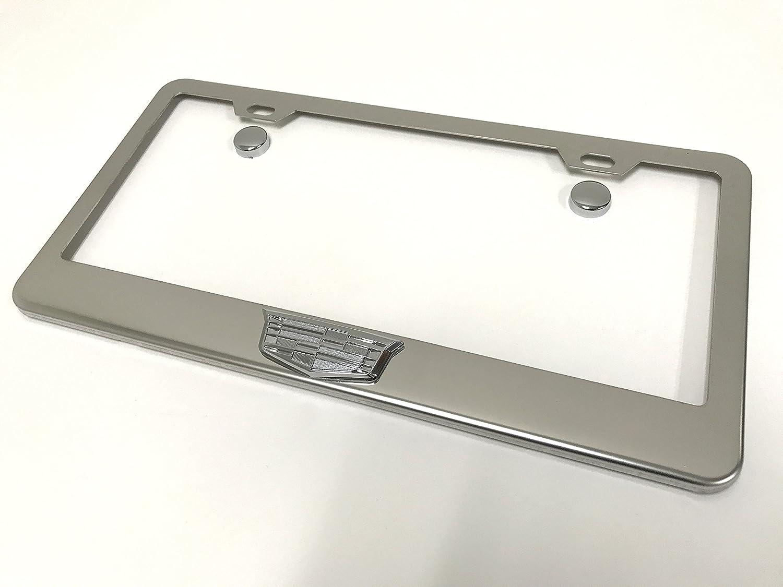 Amazon.com: 3d Cadillac cromo acero inoxidable marco de la ...