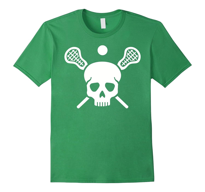 Lacrosse skull T-Shirt-CL