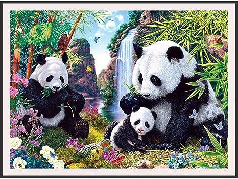 DIY 5D Diamond Painting Panda Embroidery Cross Crafts Stitch Home Decor S