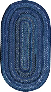 "product image for Capel Harborview Dark Blue 8' 0"" x 11' 0"" Oval Braided Rug"
