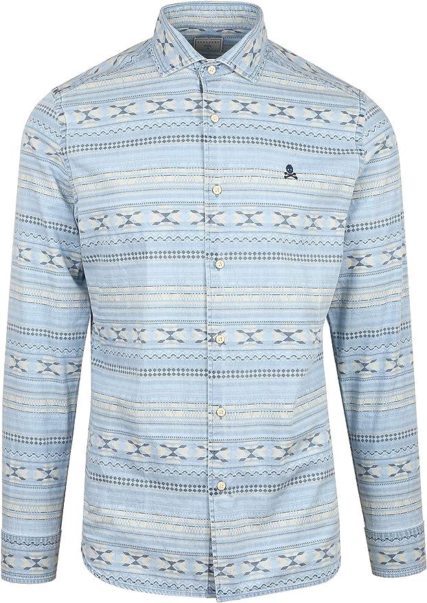 Scalpers Camisa Denim Motivos - Denim / 40: Amazon.es: Ropa y accesorios
