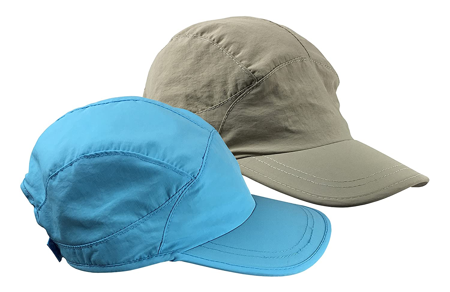 NIce Caps Kids SPF 50 UV Protection Adjustable Mesh Lined Sun Cap 2 Hat Pack