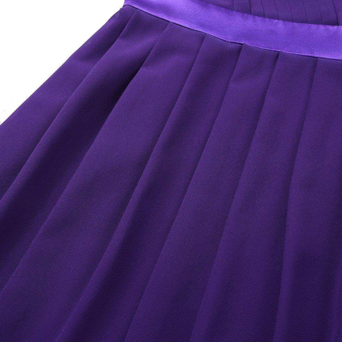 dc76a09e4d8 Freebily Robe de Soirée Cocktail Enfant Fille Asymétrique Épaule Robe de Cérémonie  Princesse Fille Mousseline Robe ...