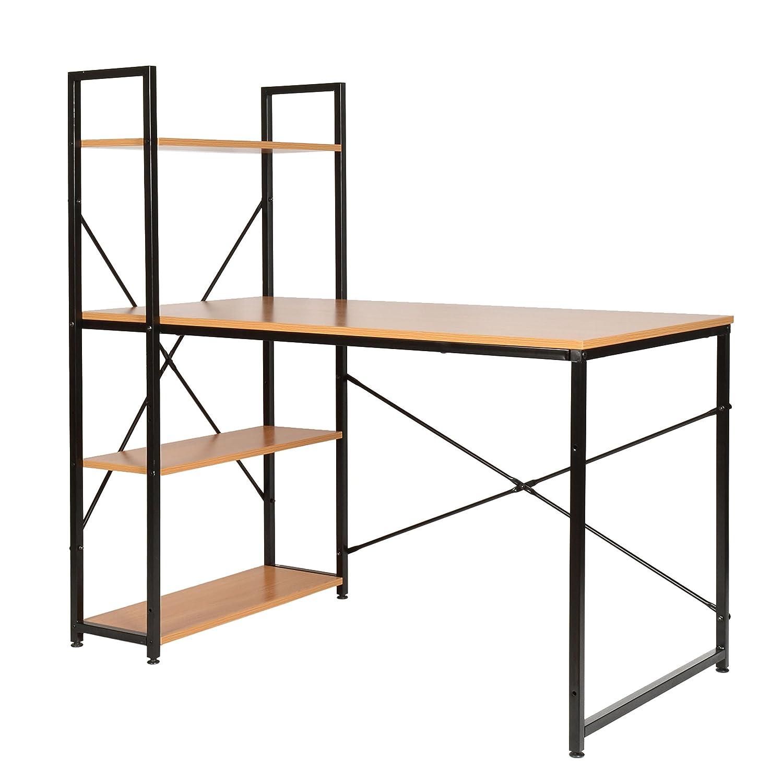 ts-ideen Escritorio de madera para computador mesa de trabajo ...