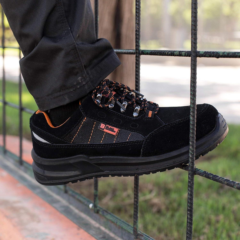 Scarpe Antinfortunistiche Leggere Uomo Maschili con Puntale in Acciaio Scarpe da Lavoro Punta in Ferro S1P SRC 9952 Back Hammer