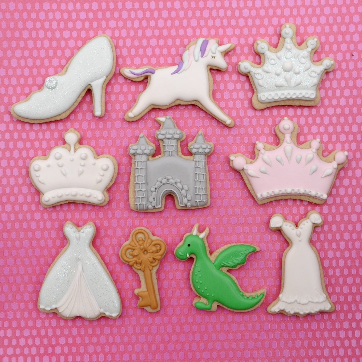 Princess Kingdom Cookie Cutter Set - 10 Piece Stainless Steel by Sweet Cookie Crumbs (Image #2)