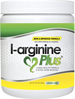 L-Arginine Plus Lemon Lime - L-arginine Formula for Blood Pressure, Cholesterol