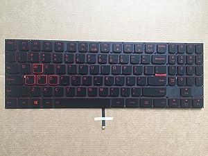 Original New for Lenovo Legion Y7000 Y7000P Y530 Series Gaming Laptop US Black Backlit Keyboard Red Word Red Side