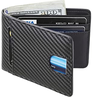 58d0fd0ec86 Casmonal Mens Leather Wallet Slim Front Pocket Wallet Billfold RFID Blocking