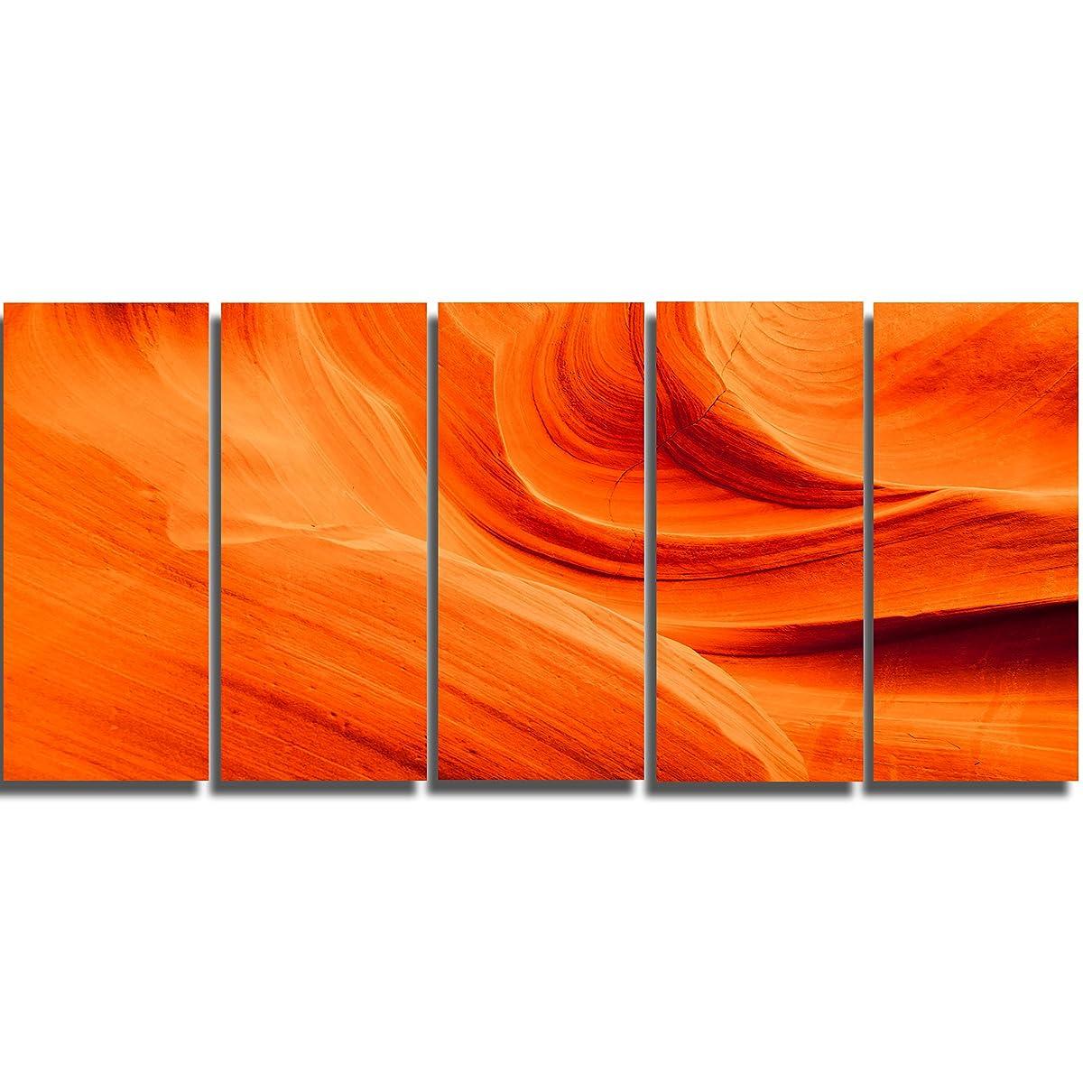 Designart Orange Upper Antelope Canyon Landscape Photo Canvas Print, Orange