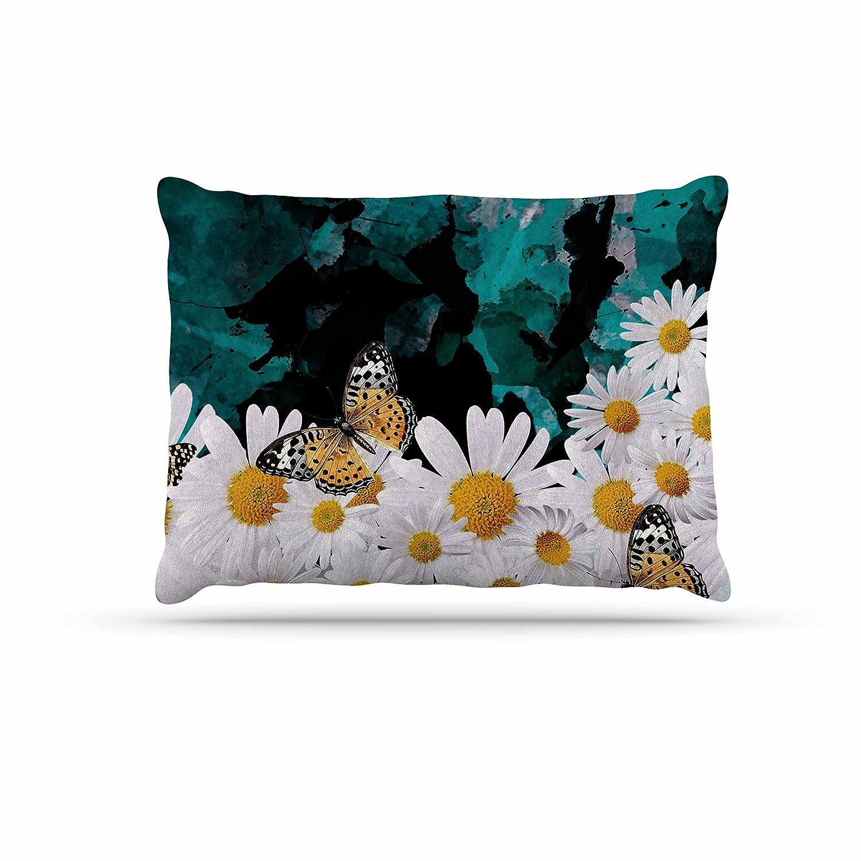 Kess InHouse Shirlei Patricia Muniz Secret Garden Yellow Floral Pillow Sham 40 x 20