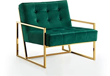 Charmant Amazon.com: Meridian Furniture 523Green Pierre Gold Accent Chair, Green:  Kitchen U0026 Dining