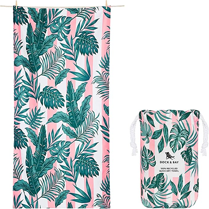 These striped towels with botanical design make awesome Hawaiian gift ideas and is one of the packing essentials Hawaii travel