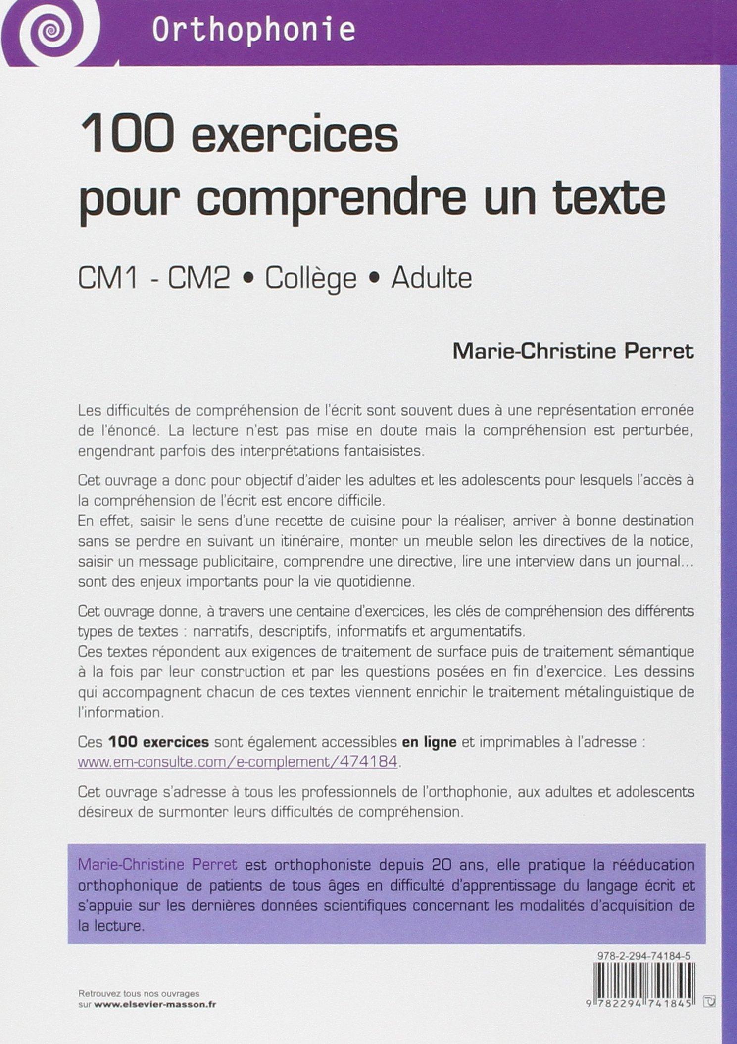 Extrêmement Amazon.fr - 100 exercices pour comprendre un texte: CM1 - CM2  JU02