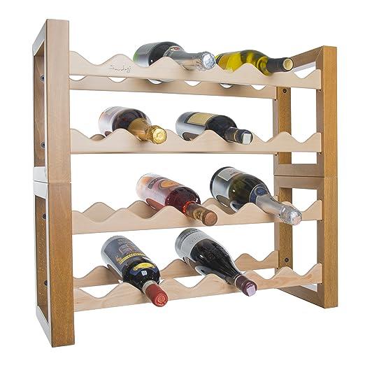 Botellero botellero vino de madera para nevera 24 plazas saudagi ...