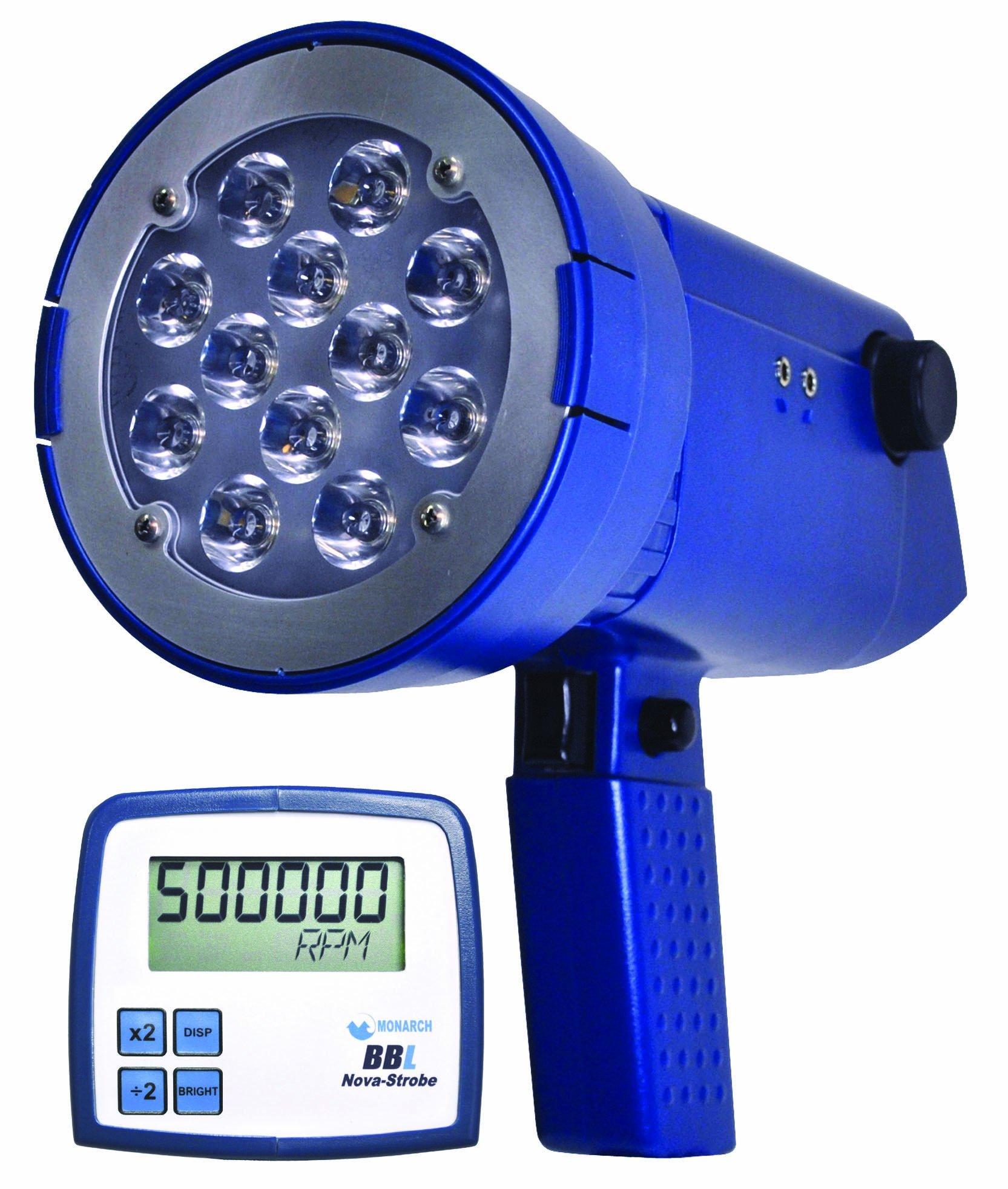 Monarch Nova-Strobe BBL LED Portable Stroboscope, Rechargeable Battery, 9'' L x 3.66'' W x 3.56'' H by Monarch Instrument