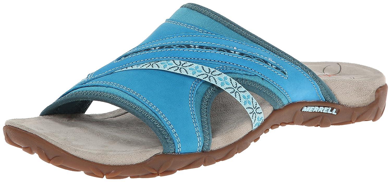 Amazon.com | Merrell Women's Terran Slide Sandal, Algiers Blue, 5 B(M)US |  Sport Sandals & Slides