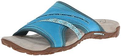 Merrell Women's Terran Slide Sandal, Algiers Blue, ...