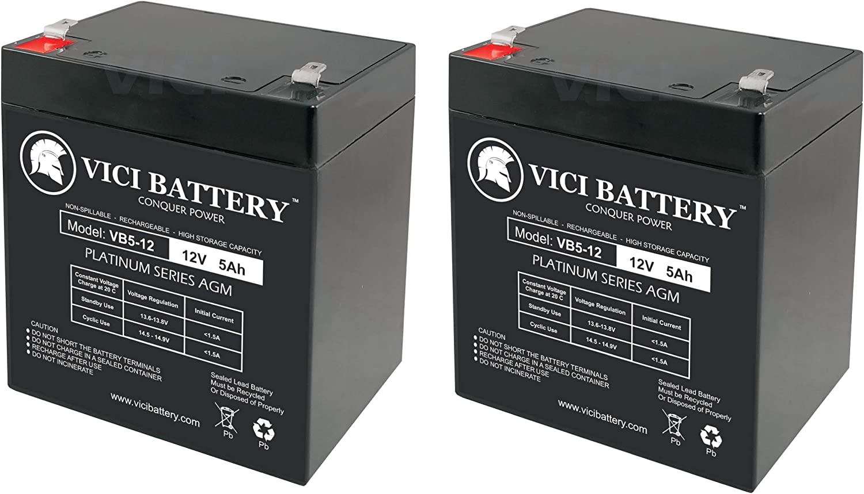 VICI Battery VB5-12 12V 5AH Replaces APC RBC46 UPS Battery Brand Product