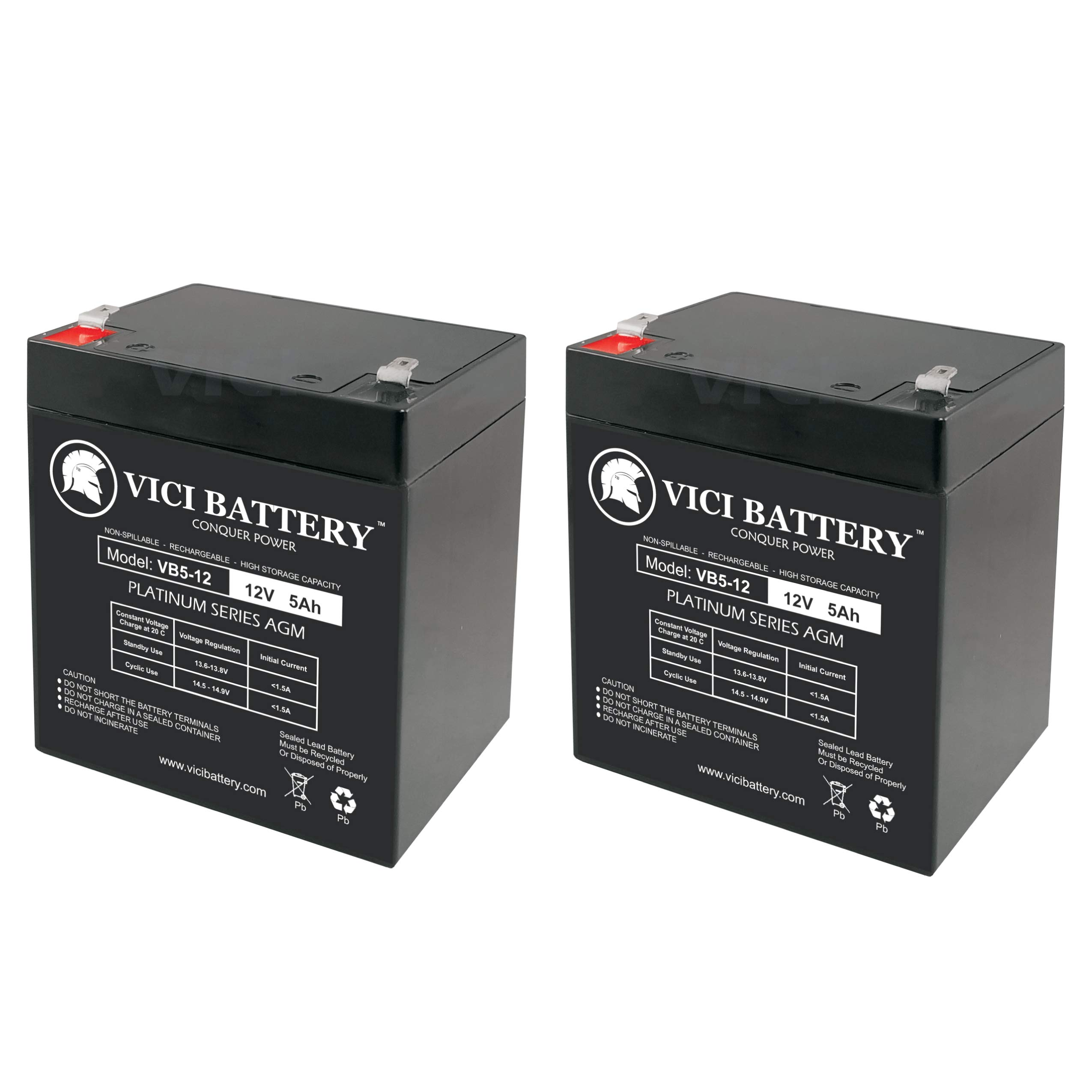VICI Battery VB18-12 Jump Starter Battery 12V 18AH Replacement for Wagan Corp 2354 Power Dome 400W