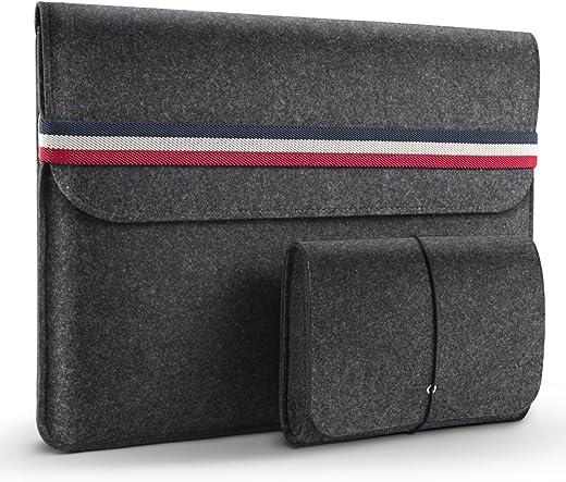 "HOMIEE 13 Inch MacBook Air Laptop Sleeve Case for 2016-2019 MacBook Pro, 2017-2019 MacBook Air, 12.9"" iPad Pro, Dell XPS 13, Lenovo Yoga 13, Surface Pro/HP/Chromebook Ultra Slim Notebook, Dark Gray"