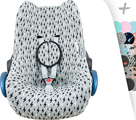 Amazon.com: JANABEBÉ Maxi COSI Cover Liner for CABRIOFIX, CITI, STREETY FIX, Jane KOOS + Harness Protection Pads (Black Rayo): Baby