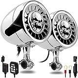 "GoHawk AS5-X Gen.3 All-in-One 600W Built-in Amplifier 5"" Full Range Waterproof Bluetooth Motorcycle Stereo Speakers Audio Amp"