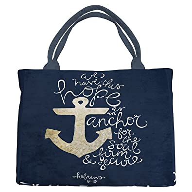 6ec5575014 Amazon.com  Custom We Have This Hope As an Anchor for the Soul Hebrew 6 19  Theme Pattern Canvas Shoulder Bags Handbags Tote Bags Shopping Bag  Shoes