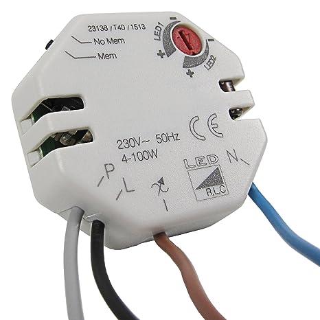 Regulador de-uso 4-100 vatios para bombillas LED 230 V GU10 y 12