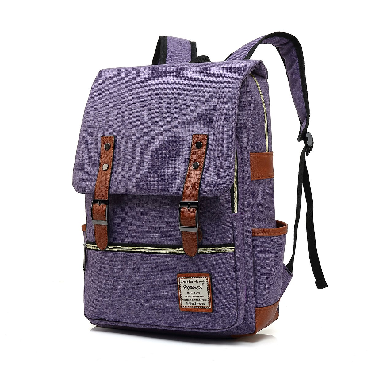 UGRACE Slim Business Laptop Backpack Elegant Casual Daypacks Outdoor Sports Rucksack School Shoulder Bag for Men Women, Tear Resistant Unique Travelling Backpack Fits up to 15.6Inch Macbook in Violet by UGRACE (Image #1)