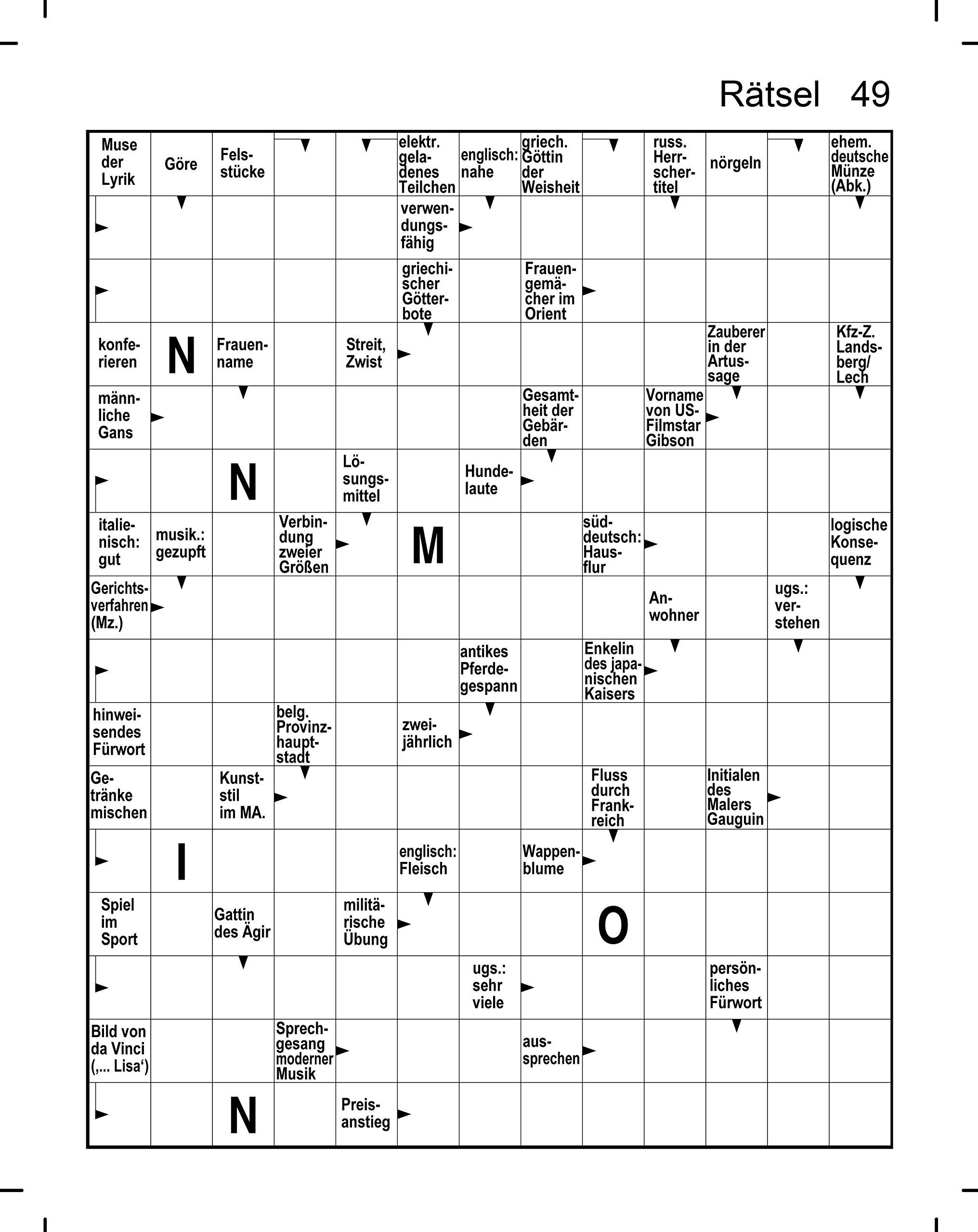 Kreuzworträtsel In Großdruck Je Heft 128 Seiten Weisses Papier