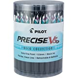 PILOT Precise V5 RT Refillable & Retractable Liquid Ink Rolling Ball Pens, Extra Fine Point (0.5mm) Black Ink, Tub of 48…