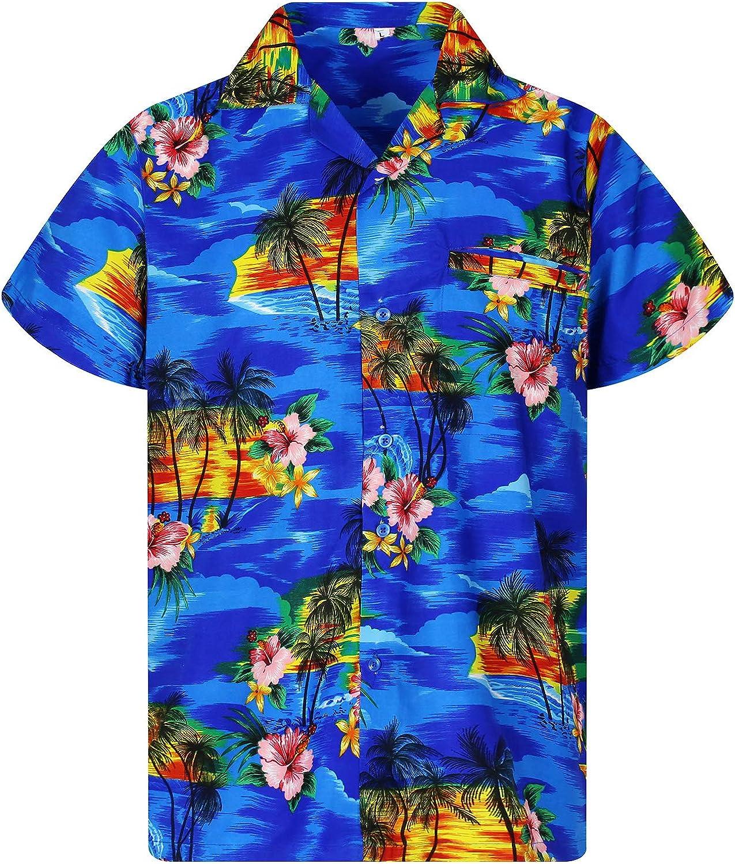 V.H.O Original King Kameha Funky Camisa Hawaiana Se/ñores XS