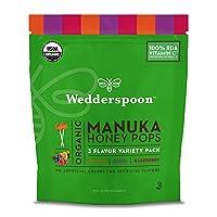 Wedderspoon Organic Manuka Honey Pops for Kids, Variety Pack, Unpasteurized, Genuine...