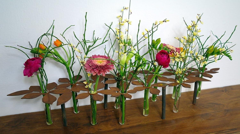 Blumen Tischdeko metallmichl edelrost tischdeko ständer blumen 64 cm lang inkl 10