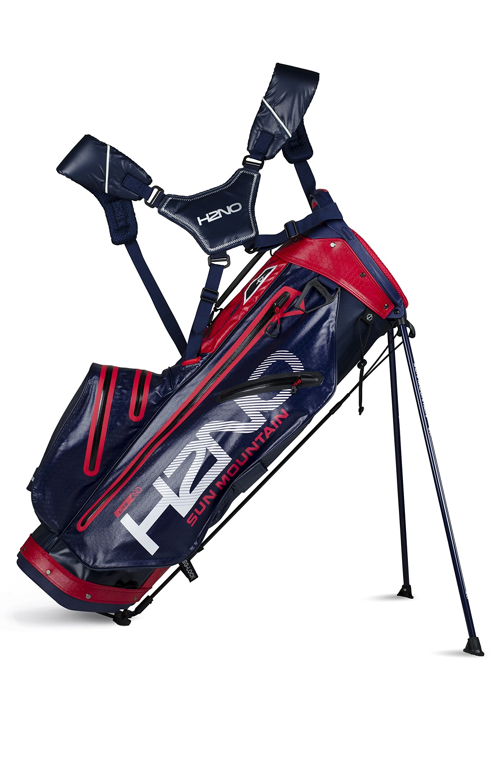 Sun Mountain H2NO Lite Stand Bag 2018 Navy/Red by Sun Mountain