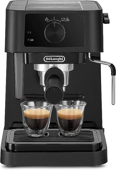 DeLonghi Stilosa EC230.BK - Cafetera de bomba con 15 bares de presión, 1100 W, 1L, color negro: Amazon.es: Hogar