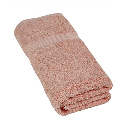 Calico Touch Single Bath Luxury Collection Towel (75x150cms ,Rose,Cotton)