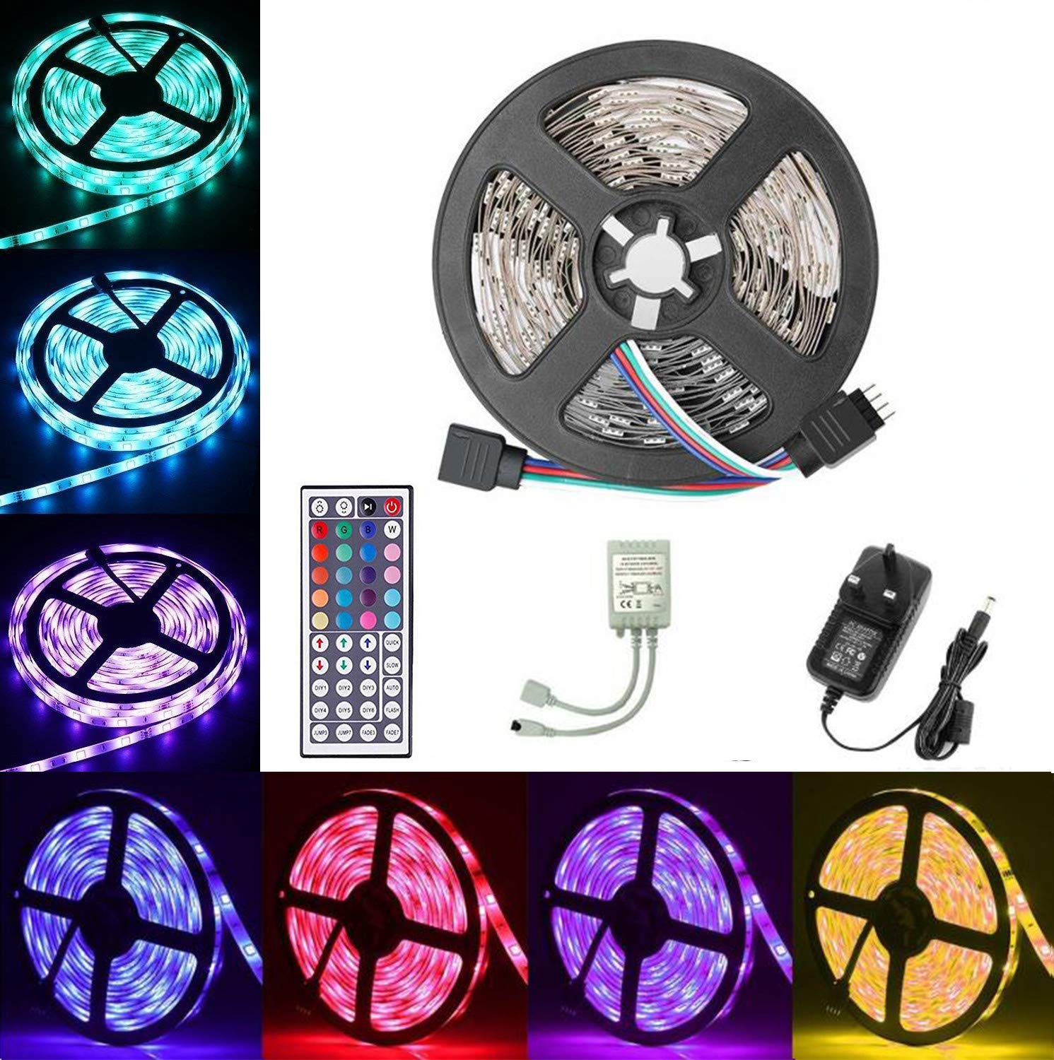 Emwel Sound Activated Mini USB Car Disco Dj Lights Strobe Light Mirror Magic Rotating Ball Glitter Stage Show Lights for Camp Home Party Wedding Christmas Bar Club Pub with Remote