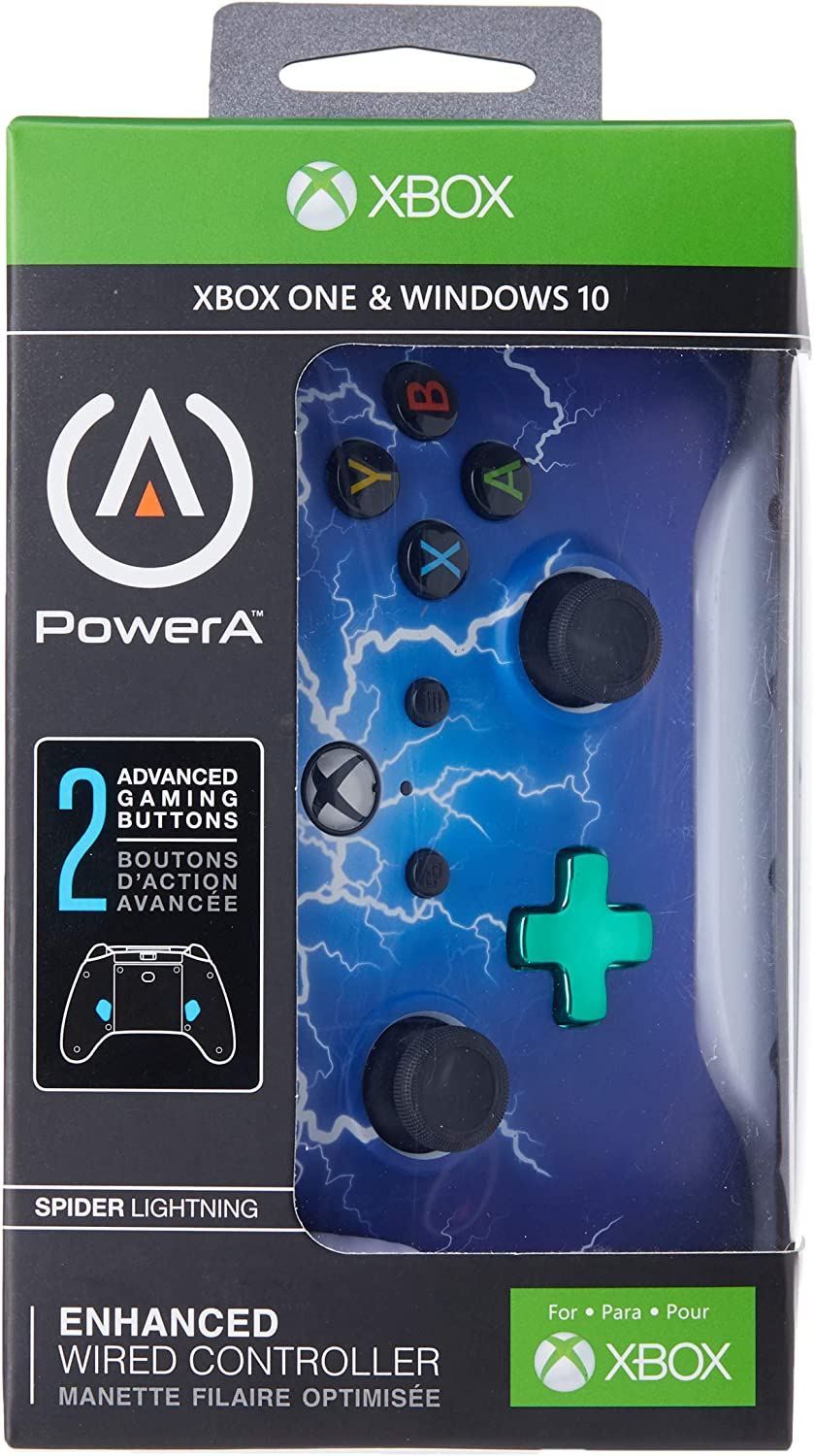 PowerA - Mando Xbox one/Pc con cable Araña Relampago (Xbox One ...