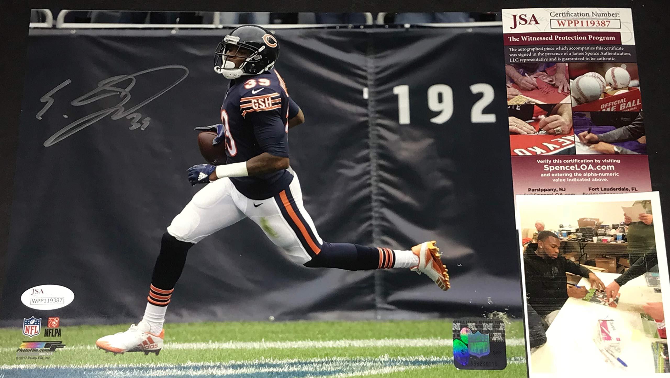 Eddie Jackson Chicago Bears Autographed Signed 8x10 JSA WITNESS COA