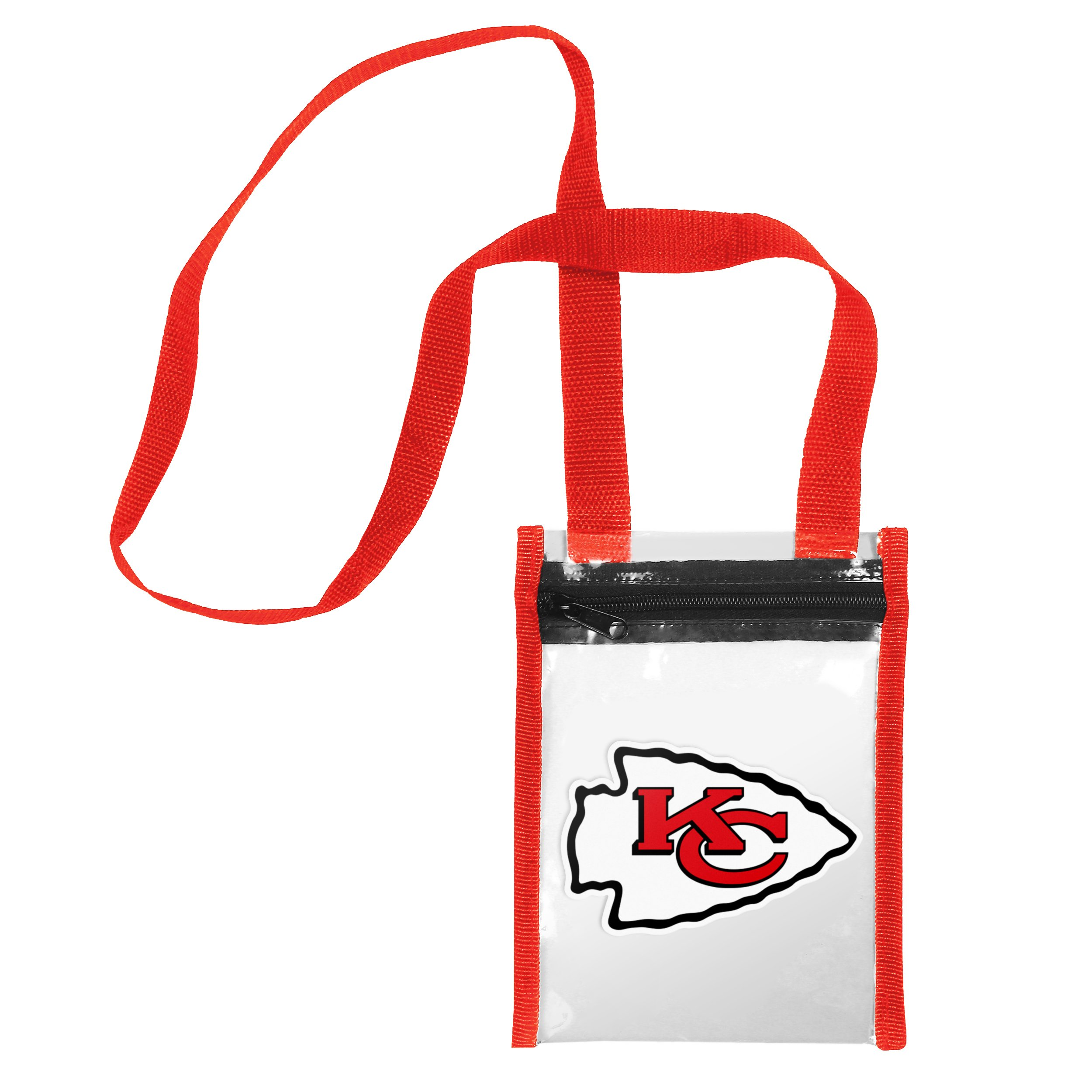 FOCO Kansas City Chiefs Clear Crossbody Tote Bag