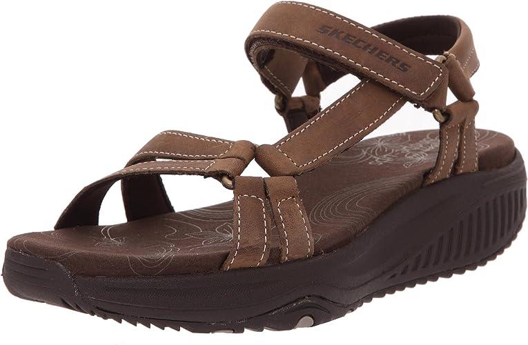 Shape-ups XW Dash Sandals Brown Size