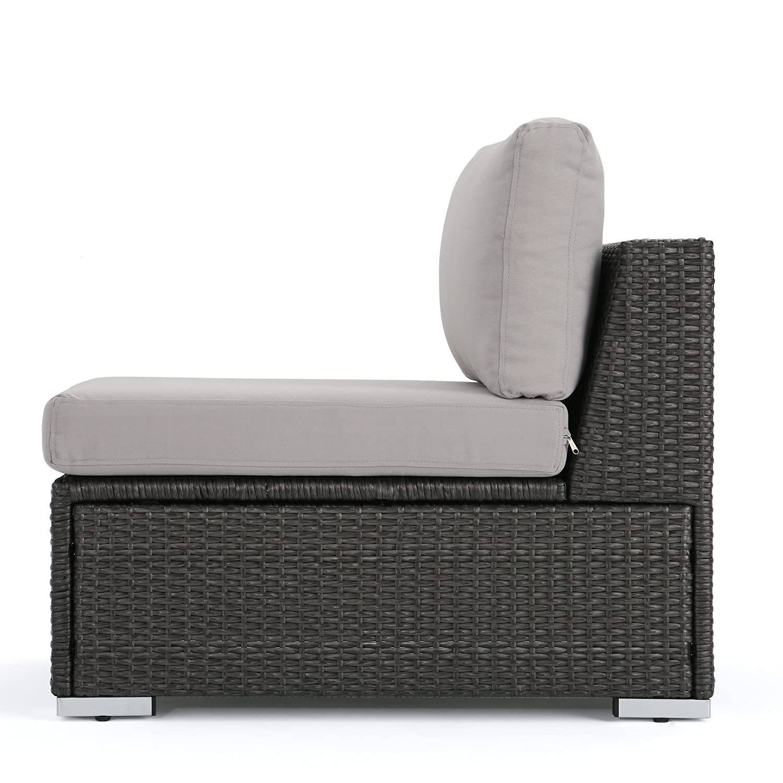Amazon Com Francisco Outdoor Wicker Sectional Sofa Seat W Cushions
